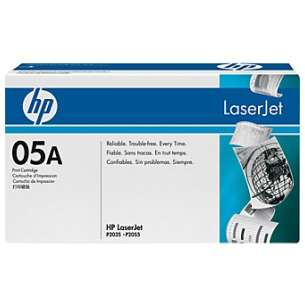 Original Hewlett Packard (HP) CE505A (05A) toner cartridge - black cartridge