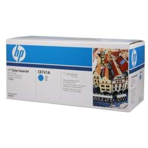 Original Hewlett Packard (HP) CE741A (307A) toner cartridge - cyan
