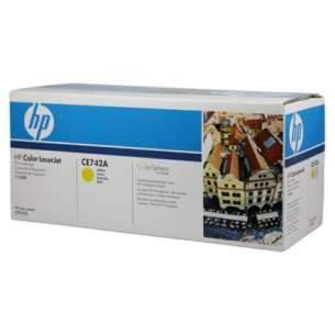 Original Hewlett Packard (HP) CE742A (307A) toner cartridge - yellow