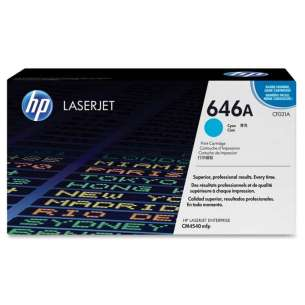 Original Hewlett Packard (HP) CF031A (646A) toner cartridge - cyan