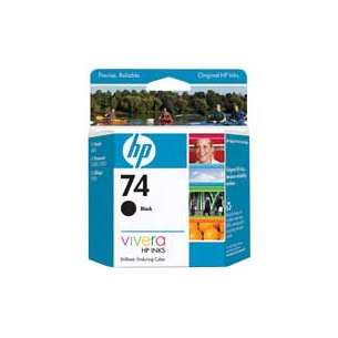 Original Hewlett Packard (HP) CB335WN (HP 74 ink) inkjet cartridge - black cartridge
