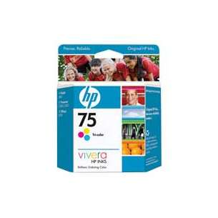 Original Hewlett Packard (HP) CB337WN (HP 75 ink) inkjet cartridge - color cartridge
