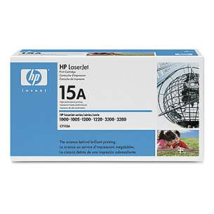 Original Hewlett Packard (HP) C7115A (15A) toner cartridge - black cartridge