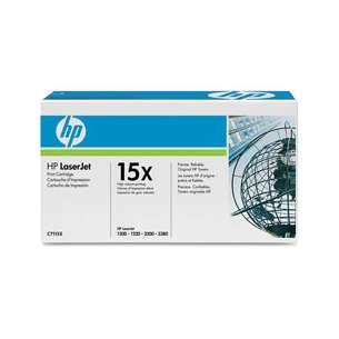 Original Hewlett Packard (HP) C7115X (15X) toner cartridge - high capacity black