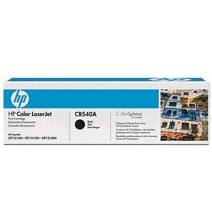 Original Hewlett Packard (HP) CB540A (125A) toner cartridge - black cartridge