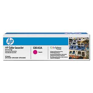 Original Hewlett Packard (HP) CB543A (125A) toner cartridge - magenta