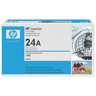 Original Hewlett Packard (HP) Q2624A (24A) toner cartridge - black cartridge