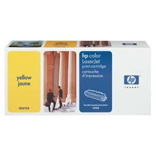 Original Hewlett Packard (HP) Q2672A (309A) toner cartridge - yellow