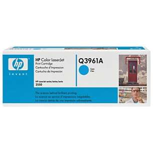 Original Hewlett Packard (HP) Q3961A (122A) toner cartridge - cyan