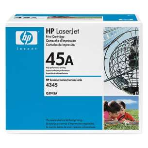 Original Hewlett Packard (HP) Q5945A (45A) toner cartridge - black cartridge