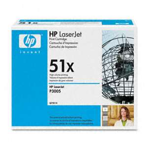 Original Hewlett Packard (HP) Q7551X (51X) toner cartridge - high capacity black