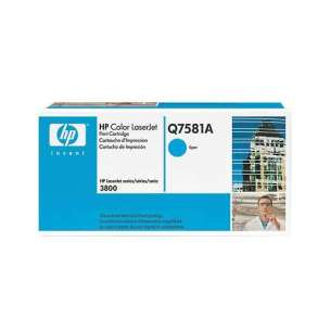 Original Hewlett Packard (HP) Q7581A (503A) toner cartridge - cyan