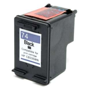 Remanufactured HP CB335WN (HP 74 ink) inkjet cartridge - black cartridge