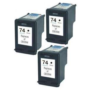 Remanufactured inkjet cartridges Multipack for HP 74 - 3 pack