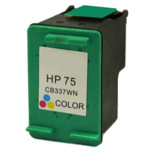 Remanufactured HP CB337WN (HP 75 ink) inkjet cartridge - color cartridge