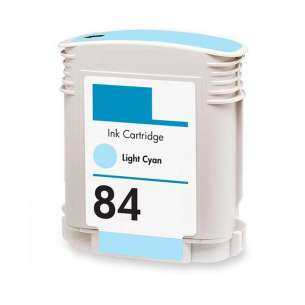 Remanufactured HP C5017A (HP 84 ink) inkjet cartridge - light cyan