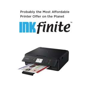 INKfinite Printer Plan: Brand new Canon TS-5020 Wireless All-in-One Printer with $4.99 INKS FOR LIFE (cartridges sold separately)