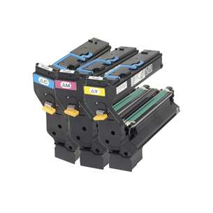 Original Konica Minolta 1710580-002 / 1710580-003 / 1710580-004 toner cartridges - 3-pack