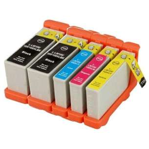 Remanufactured inkjet cartridges Multipack for Lexmark #100XL - 5 pack