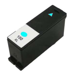 Compatible Lexmark 14N1093 (#100XL ink) inkjet cartridge - high capacity cyan
