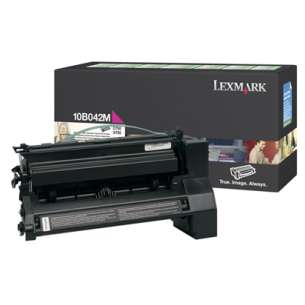 Original Lexmark 10B042M toner cartridge - magenta