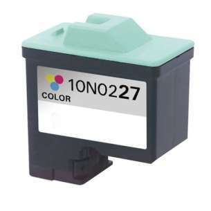 Remanufactured Lexmark 10N0227 (#27 ink) inkjet cartridge - color cartridge