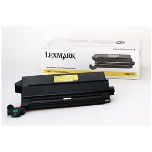 Original Lexmark 12N0770 toner cartridge - yellow