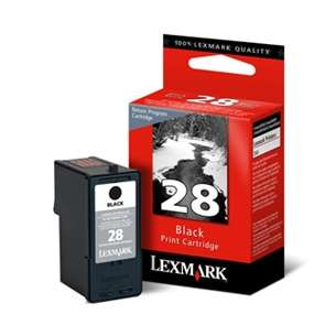 Original Lexmark 18C1428 (#28 ink) inkjet cartridge - black cartridge