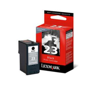Original Lexmark 18C1523 (#23 ink) inkjet cartridge - black cartridge