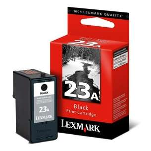 Original Lexmark 18C1623 (#23A ink) inkjet cartridge - black cartridge