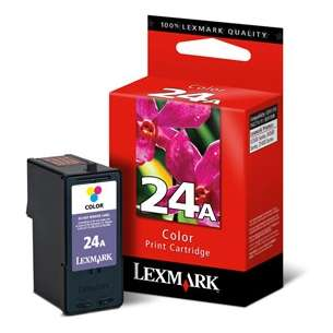 Original Lexmark 18C1624 (#24A ink) inkjet cartridge - color cartridge