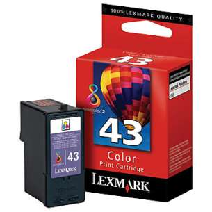 Original Lexmark 18Y0143 (#43XL ink) inkjet cartridge - high capacity color
