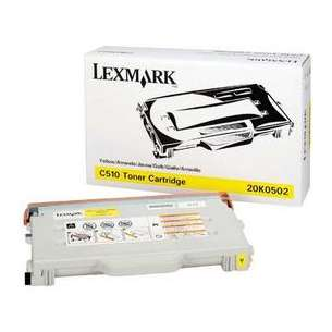 Original Lexmark 20K0502 toner cartridge - yellow