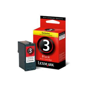 Original Lexmark 18C1530 (#3 ink) inkjet cartridge - black cartridge
