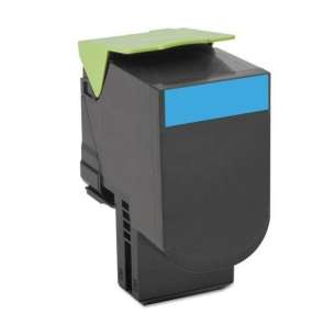 Remanufactured Lexmark 70C1HC0 toner cartridge - high capacity cyan