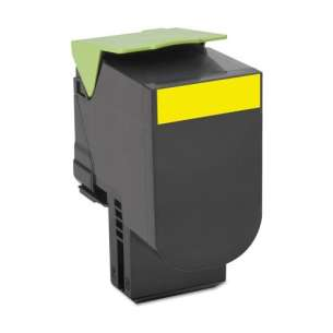 Remanufactured Lexmark 70C1HY0 toner cartridge - high capacity yellow