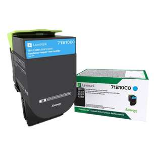 Original Lexmark 71B10C0 toner cartridge - cyan