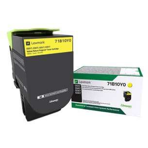 Original Lexmark 71B10Y0 toner cartridge - yellow