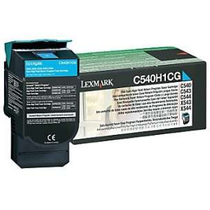 Original Lexmark C540H1CG toner cartridge - high capacity cyan
