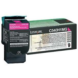 Original Lexmark C540H1MG toner cartridge - high capacity magenta