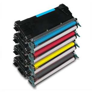 Remanufactured Lexmark C746H2KG / C746A2CG / C746A2MG / C746A2YG toner cartridges - 4-pack