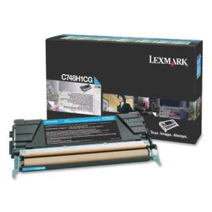 Original Lexmark C748H1CG toner cartridge - high capacity cyan