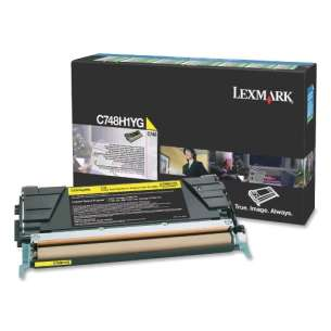Original Lexmark C748H1YG toner cartridge - high capacity yellow