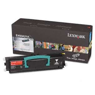 Original Lexmark E450A21A toner cartridge - black cartridge