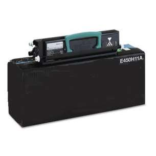 Remanufactured Lexmark E450H11A toner cartridge - high capacity black