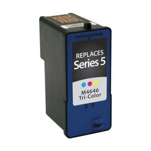 Remanufactured Dell M4646 (Series 5 ink) inkjet cartridge - high capacity color