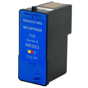 Remanufactured Dell MK993 / MK991 (Series 9 ink) inkjet cartridge - high capacity color