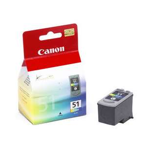 Genuine Brand Canon CL-51 inkjet cartridge - color cartridge