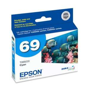 Original Epson T069220 (69 ink) inkjet cartridge - cyan