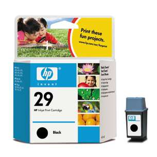Original Hewlett Packard (HP) 51629A (HP 29 ink) inkjet cartridge - black cartridge
